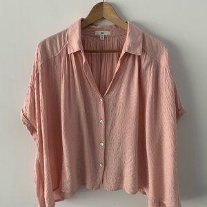 BP Textured Oversize Button-Up Shirt